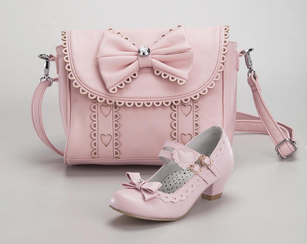 Комплект туфли и сумочка для девочек KING BOOTS KB018 розовый