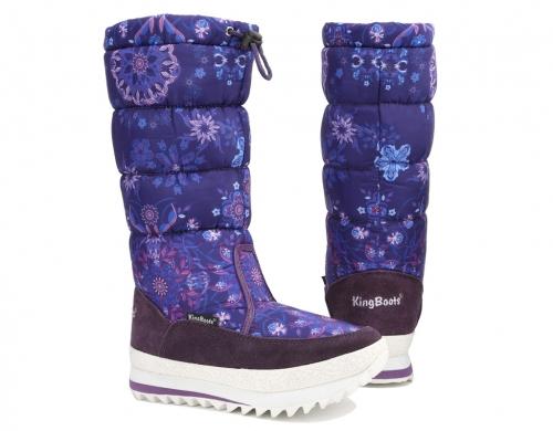 Сапоги женские 0183BL, Blau Синий, KING BOOTS оптом