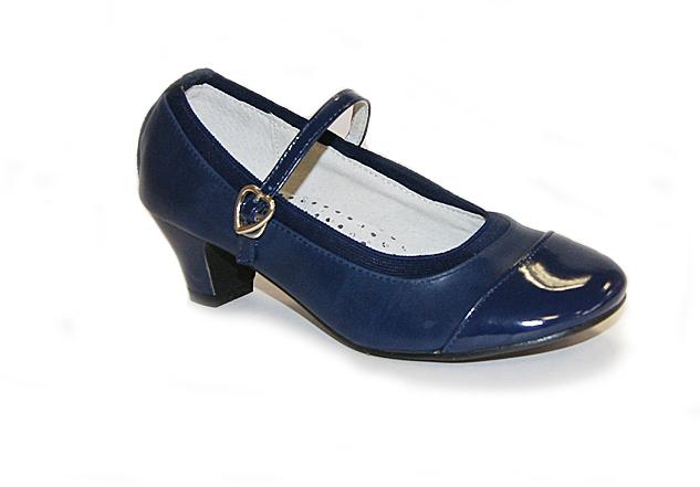 Туфли школьные для девочек KING BOOTS KB0199 синий