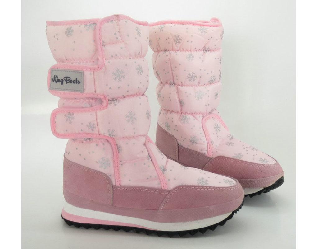 Сапоги зимние 9789-1 pink KING BOOTS. Цена: 890 руб Описание: Вид обуви: Сапоги для девочки Цвет