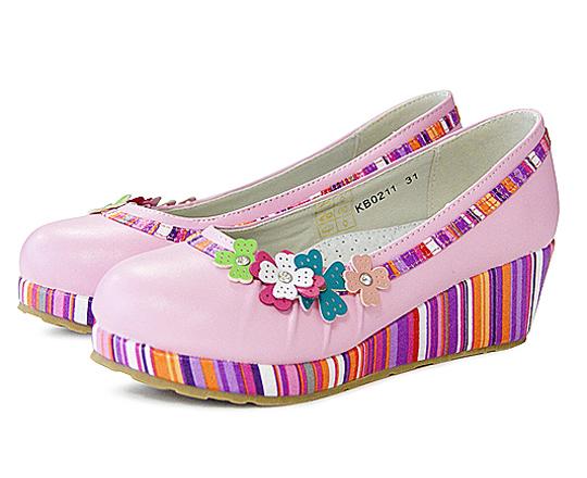 Туфли на танкетке для девочек KING BOOTS KB0211 Cyclam
