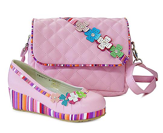 Комплект туфли и сумочка для девочек KING BOOTS KB0211 Cyclam